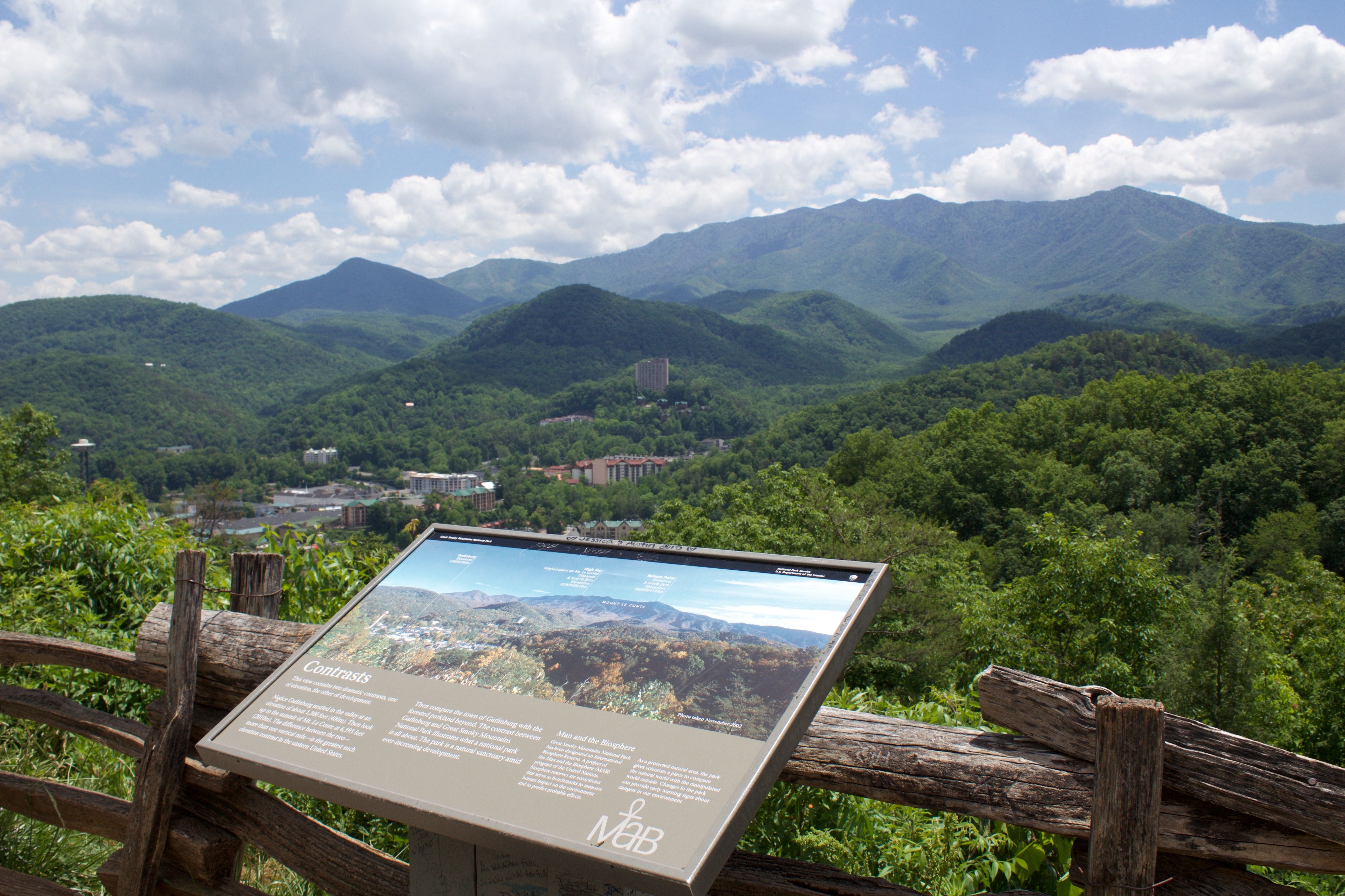 The landscape views in the Great Smoky Mountains are quite the contrast to the city life. #gatlinburg