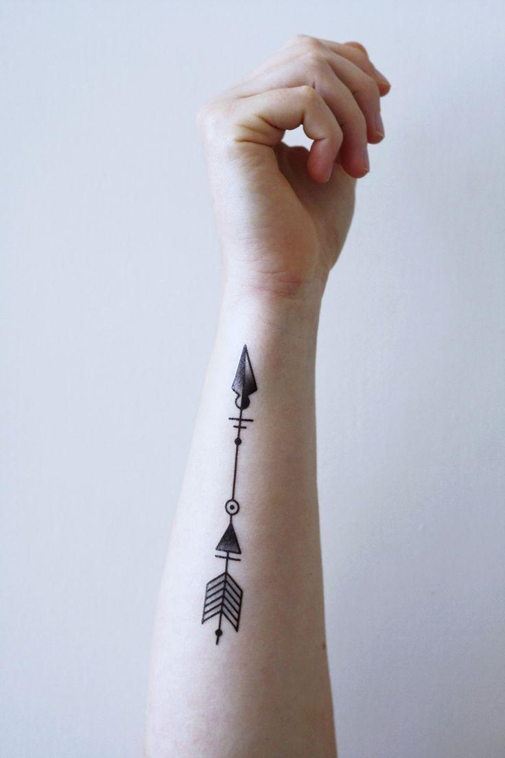Arrow temporary tattoo tattoo flechas tatuaje de notas