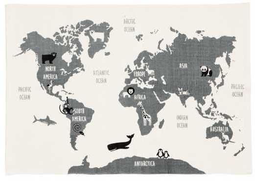 Hm world map motif cotton rug rectangular rug in cotton fabric hm world map motif cotton rug rectangular rug in cotton fabric with a printed world map motif on upper side affiliate gumiabroncs Gallery