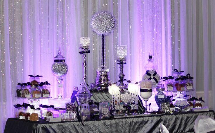 Purple Candy Buffet Ideas | Candy buffet