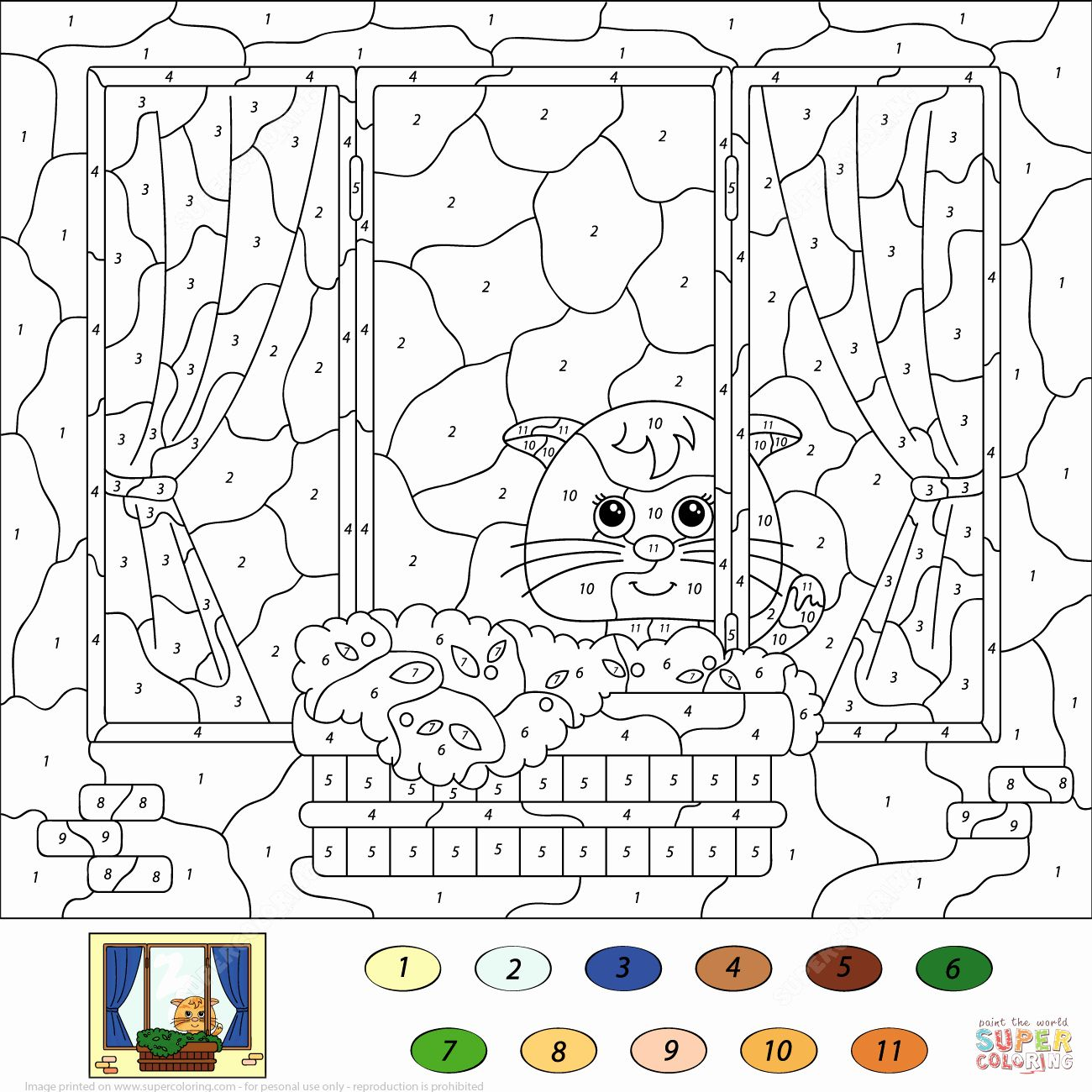 Coloring By Number Pages In