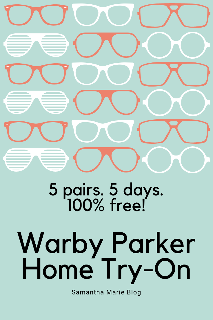Warby Parker Home Try On Samantha Marie Blog Warby Parker Warby Parker Glasses Blog