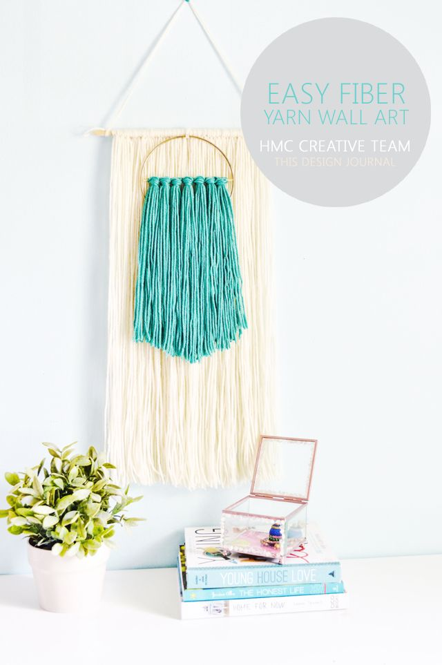 Easy Fiber Yarn Wall Art   By This Design Journal