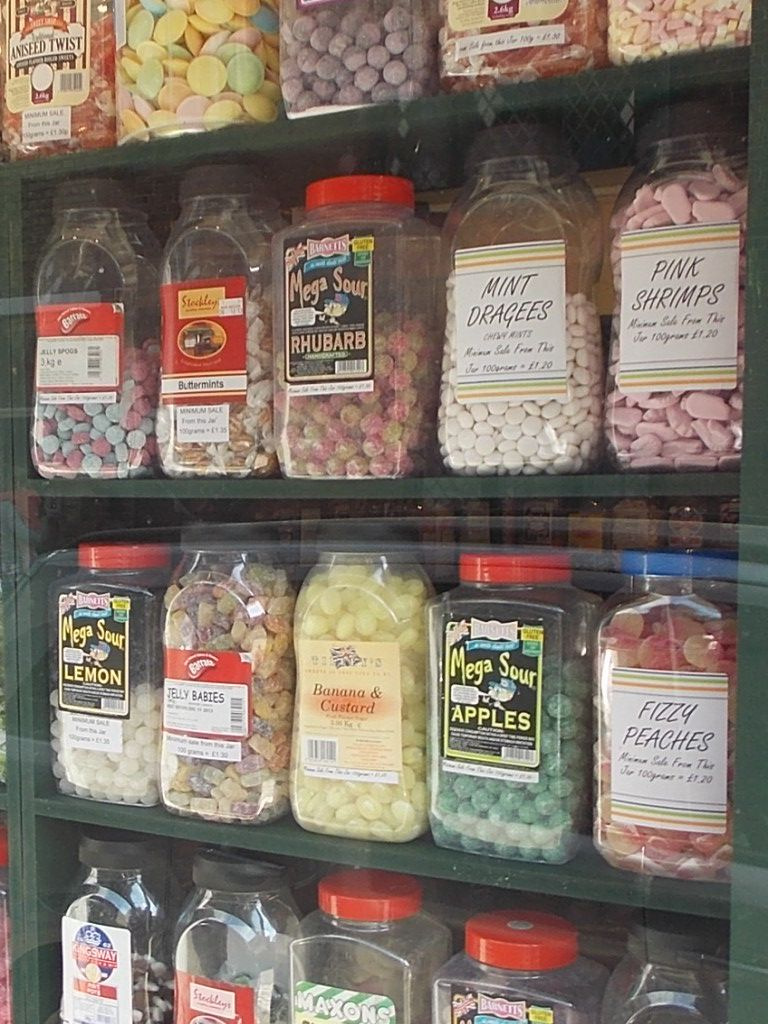 Old fashioned sweet shop in Rye High Street, East Sussex, UK. There is always a queue! I love sherbert lemons