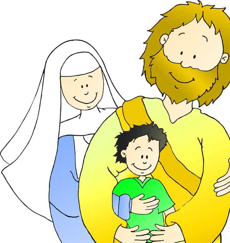 dibujos de la familia de Jess unida  Dibujos De Jess