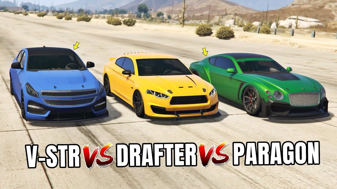 Gta 5 Online V Str Vs 8f Drafter Vs Paragon R Which Is Fastest