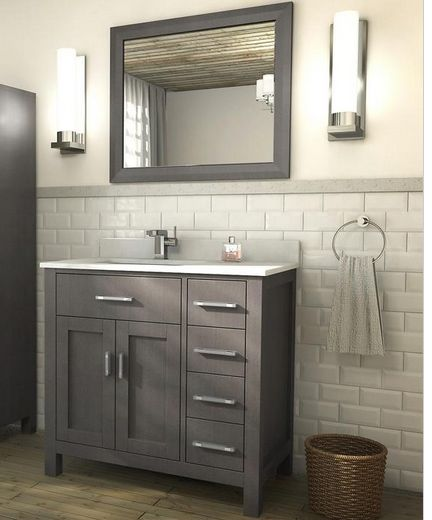 Art Kelia 36 Inch Bathroom Vanity French Gray Finish 42 Inch Bathroom Vanity Grey Bathroom Vanity Distressed Bathroom Vanity