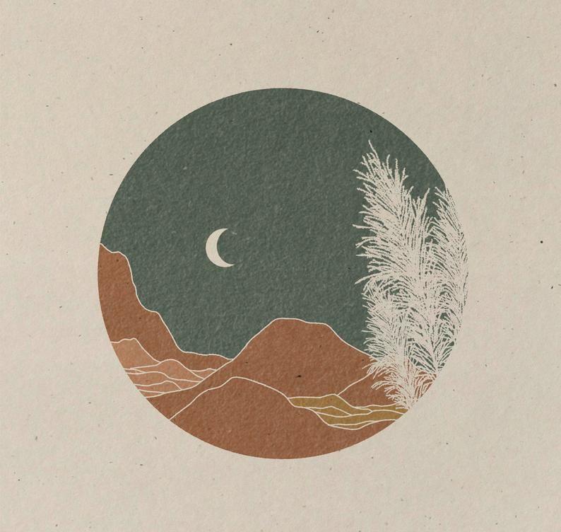 Chill   Art Print  Vintage Inspired Art  Inspirational | Etsy