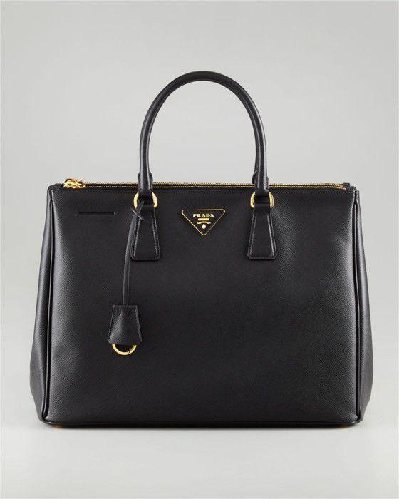 Authentic Prada Saffiano Lux Calf Leather Tote Black Bag 465 0 Designer Handbags Onlinedesigner