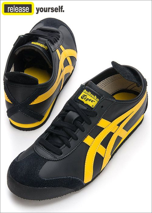 best service 1246c cf092 onitsuka tiger mexico 66 yellow black