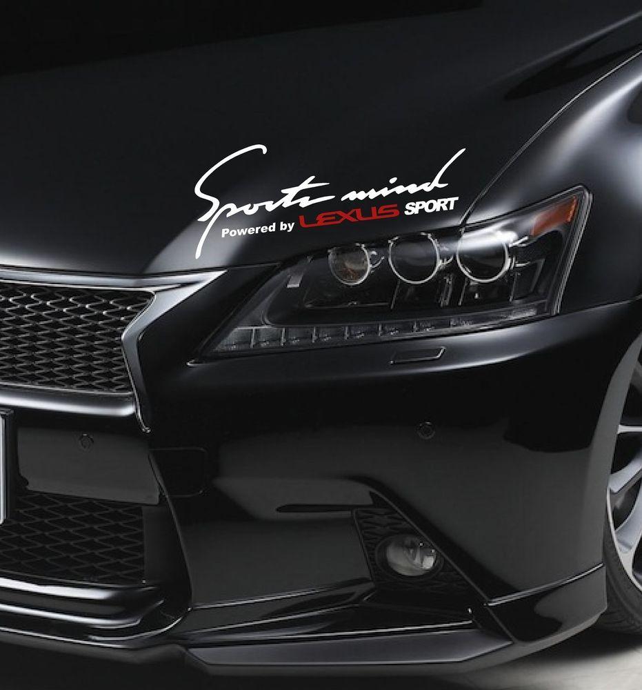 Sports Mind Lexus Is 200 250 300 350 C Es Gs 430 Rx Decal Sticker Emblem Logo W Emblem Logo Lexus Lexus Sport