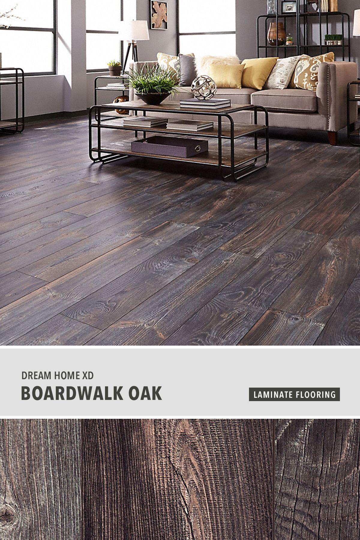 Dream Home Xd 12mm Boardwalk Oak Laminate Flooring In 2020
