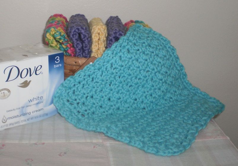 I Love This Washcloth Crocheted Washcloth Made With I Love This