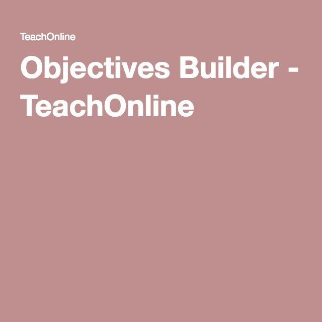 Objectives Builder Teachonline