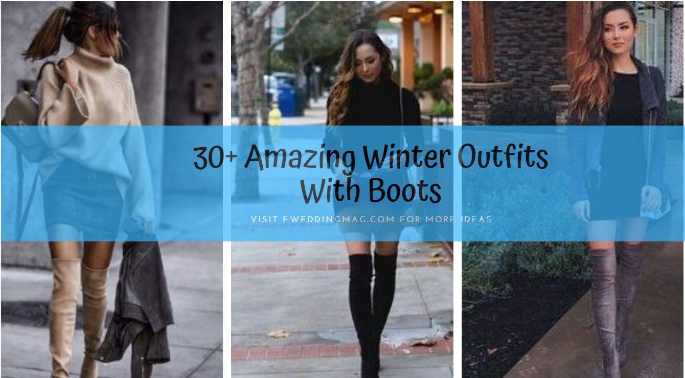 30+ Amazing Winter Outfits With Boots #WomenCasualOutfits #womenOutfits #WomenWinterOutfits