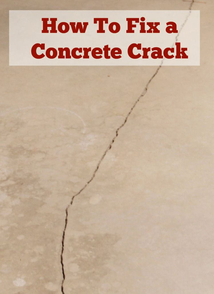 Concrete crack weekend workbench videos pinterest for How to clean garage concrete