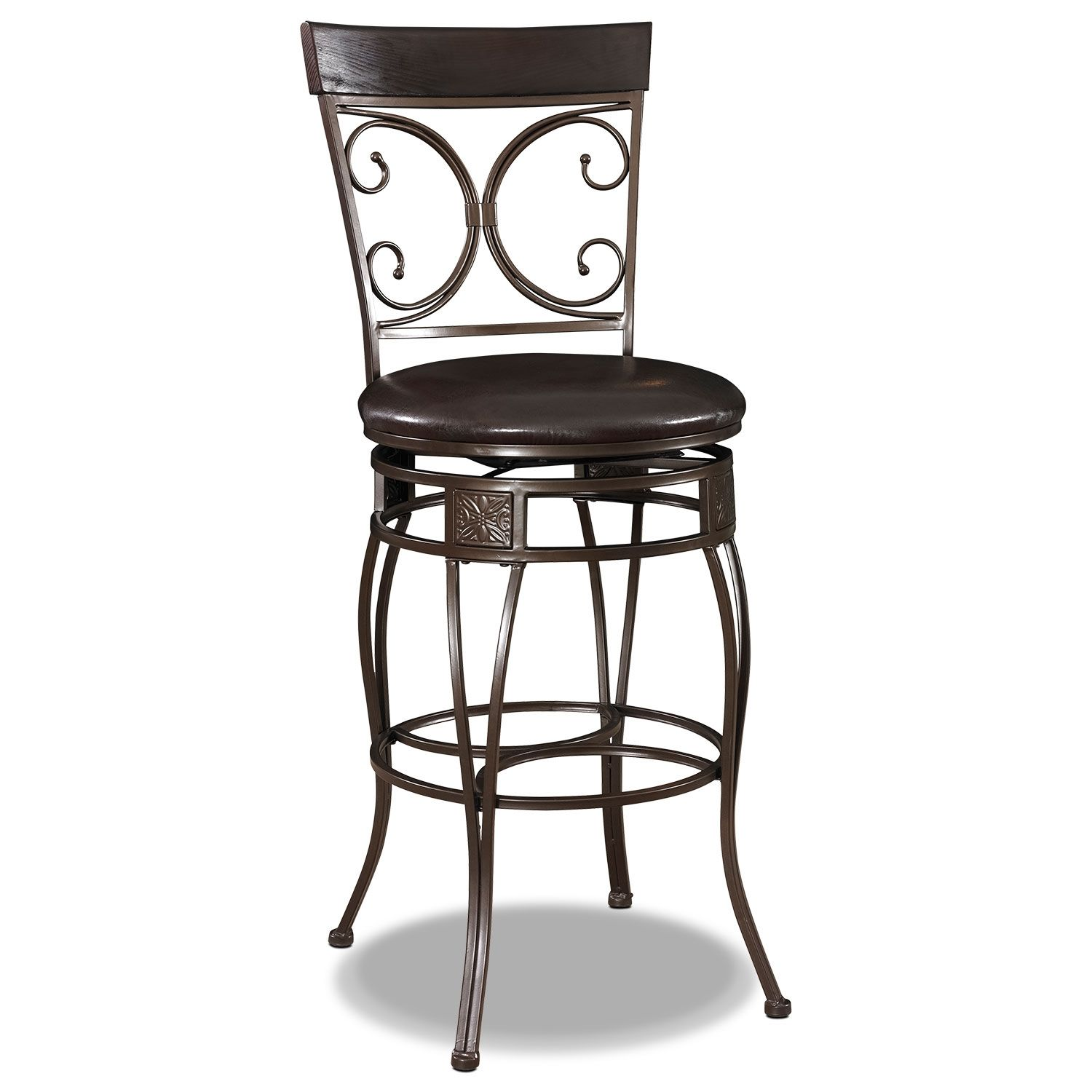 Elegant Elements The Grandview Barstool Brings Gorgeous Grace To Classic Design Style Densely Padded Faux Leath Metal Bar Stools Bar Stools Black Bar Stools