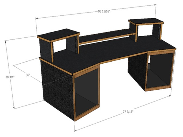 recording studio mixing desk for digital audio workstations and most control surfaces made by scs - Home Studio Desk Design