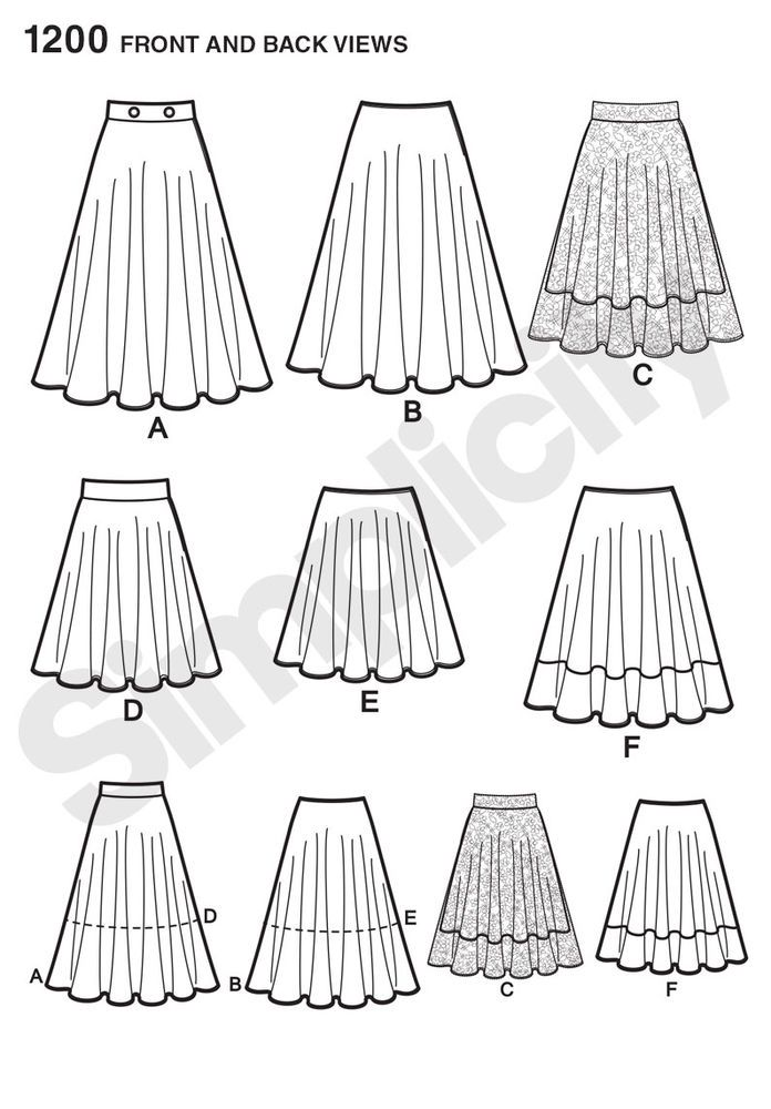 misses\' easy to sew three quarter circle skirt can be 20\