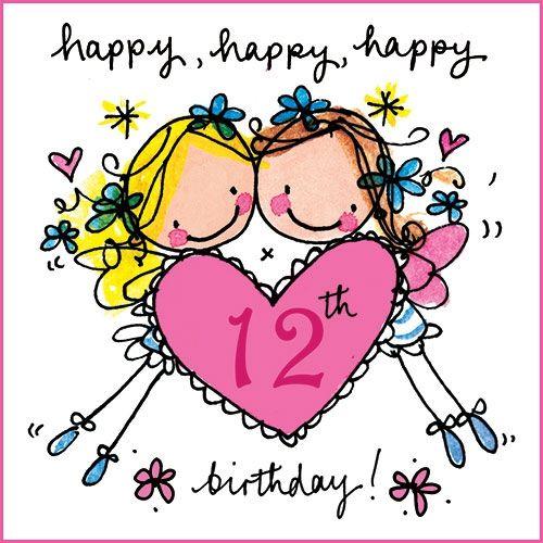 Happy happy happy 12th birthday HAPPY BIRTHDAY – 12th Birthday Cards