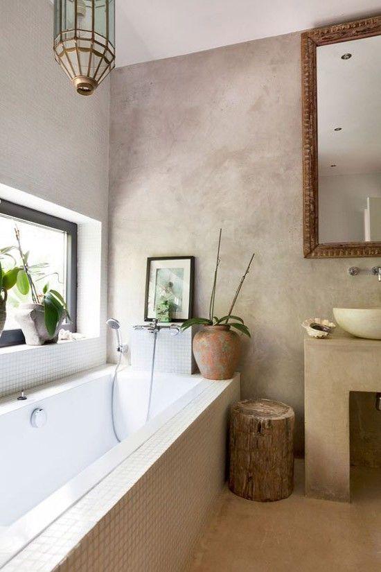 Beton stuc in de badkamer   interior & exterior   Pinterest ...