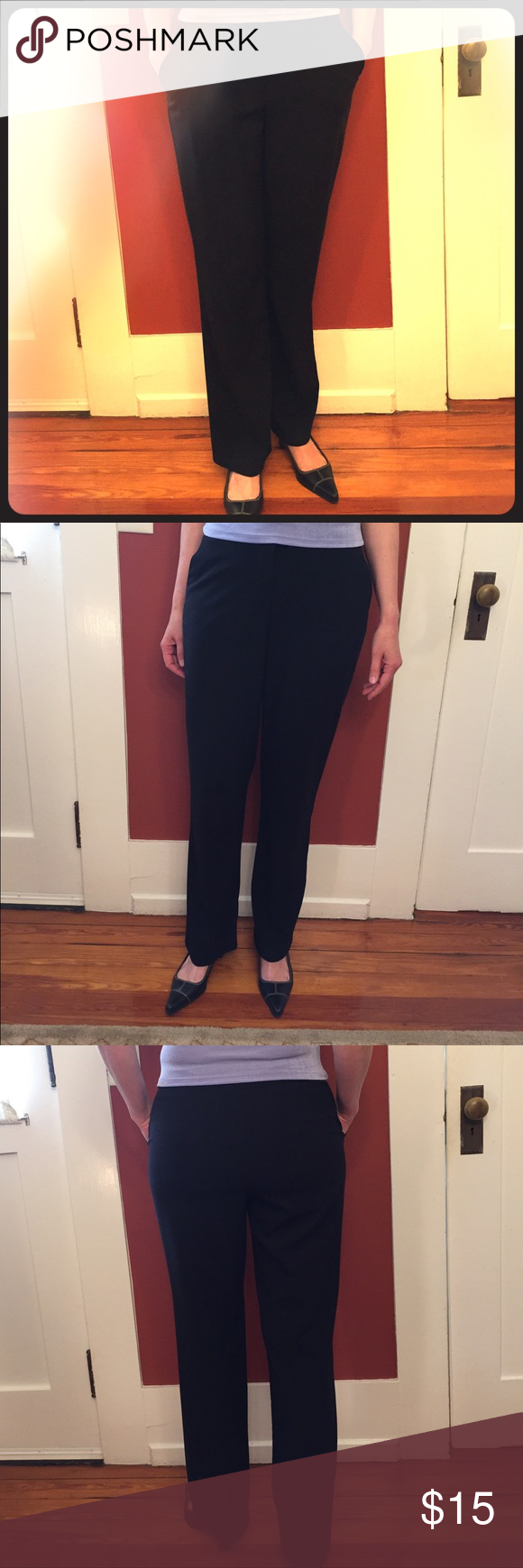Black Dress Pants Perfect For The Office Black Dress Pants Pants Dress Pants [ 1740 x 580 Pixel ]