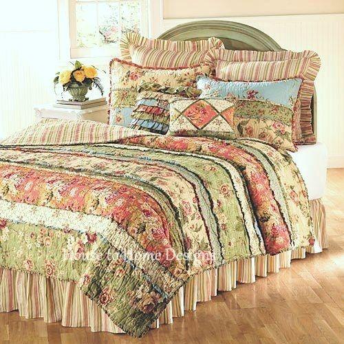 Garden Dream 5 And 7 Piece Value Quilt Set Shabby Chic Quilt