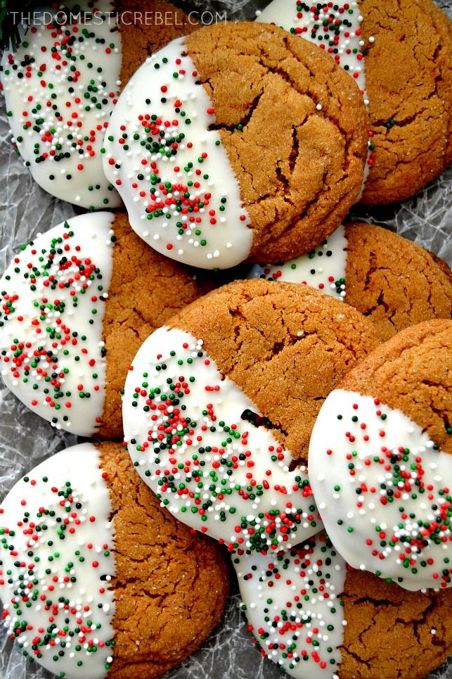 Gingerbread Molasses Cookies