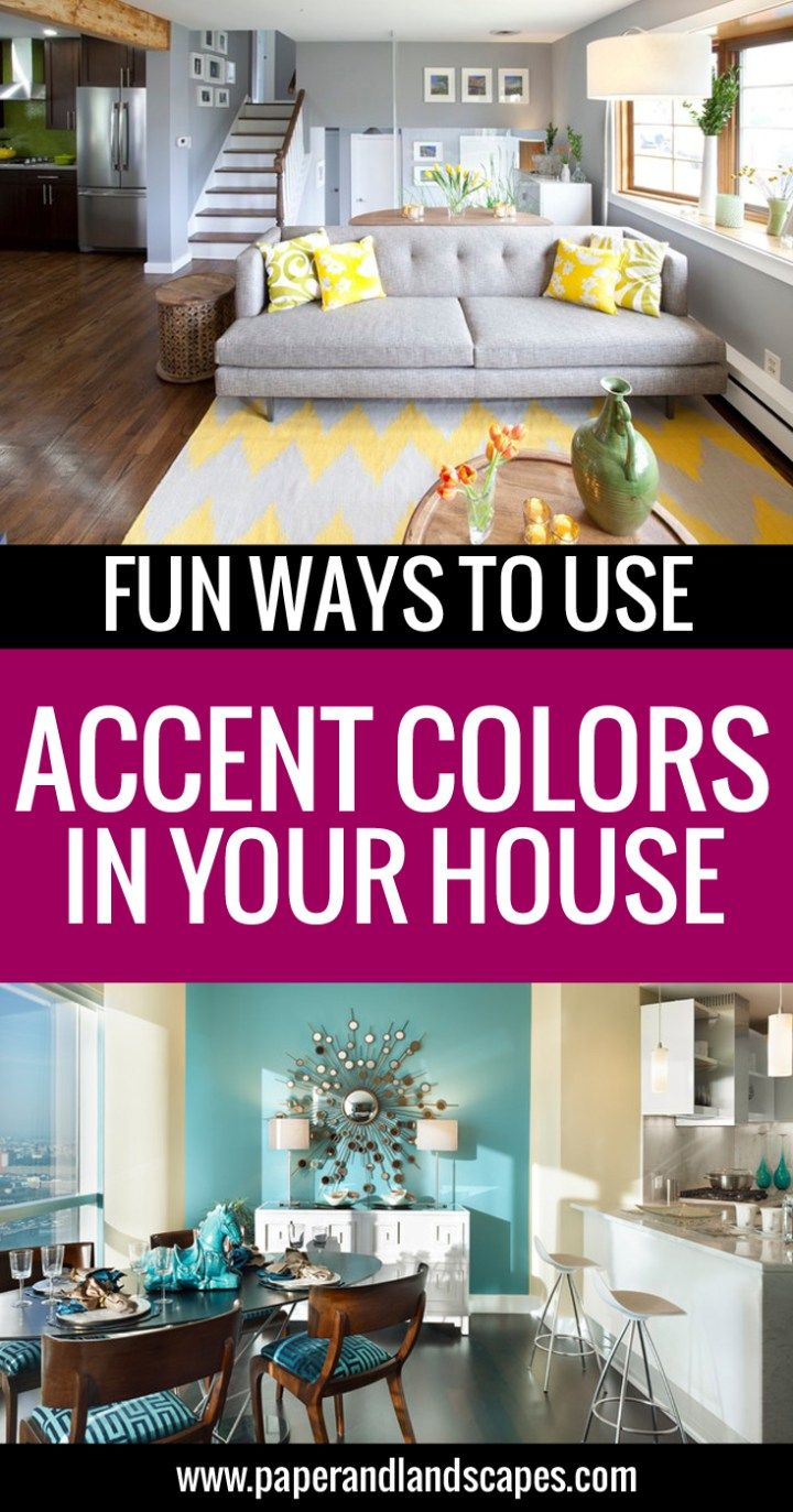 Check out some fun ideas on using accent colors in your house! - by ...