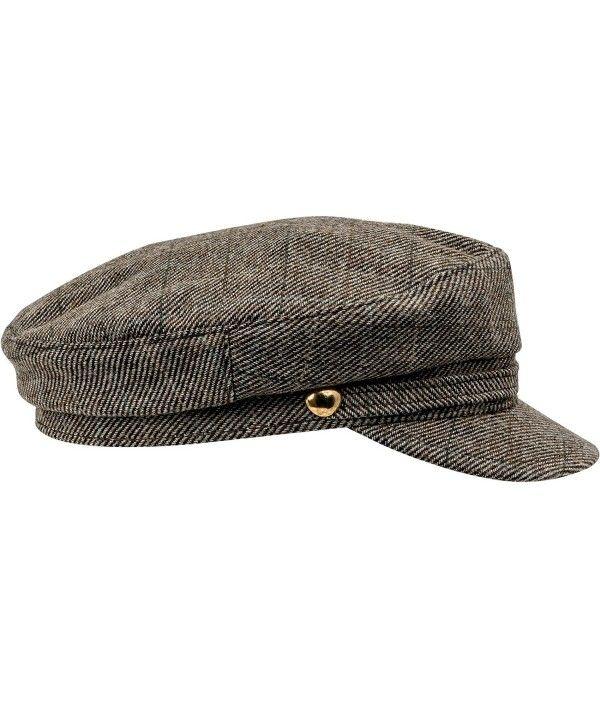 6b6173e8 Warm Wool Blend Petersham Fiddler Cap Multicoloured Check CU11AUZRK9F - Hats  & Caps, Men's Hats