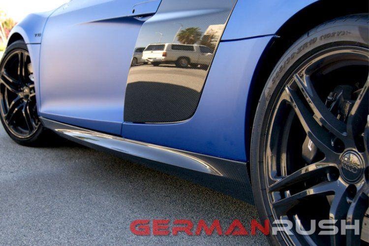 Audi R8 Coupe Spyder 2007 2015 Carbon Fiber V10 Style Side Skirts 2pc 2007 2008 2009 2010 2011 2012 2013 2014 2015 Auto Audi Audi R8 Audi R8 Spyder