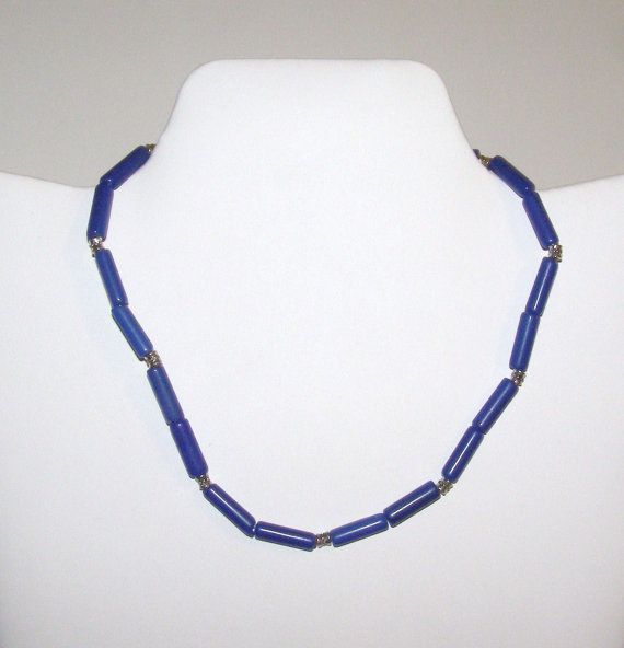 Jewelry Necklace Catseye Silver Blue Boys by IntricateWireDesigns, $5.00