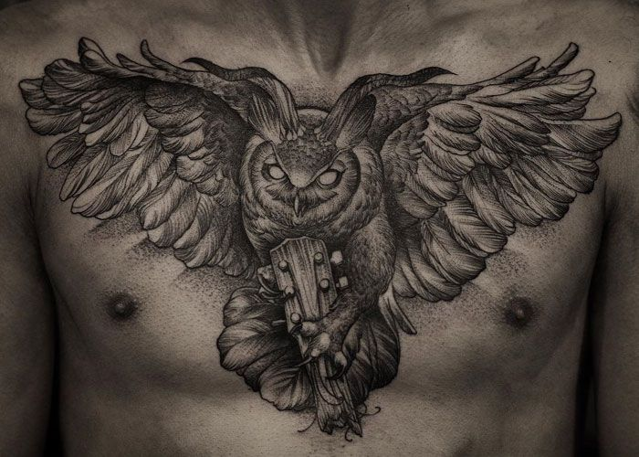 125 Best Owl Tattoos For Men Cool Designs Ideas 2020 Guide Owl Tattoo Mens Owl Tattoo Owl Tattoo Chest