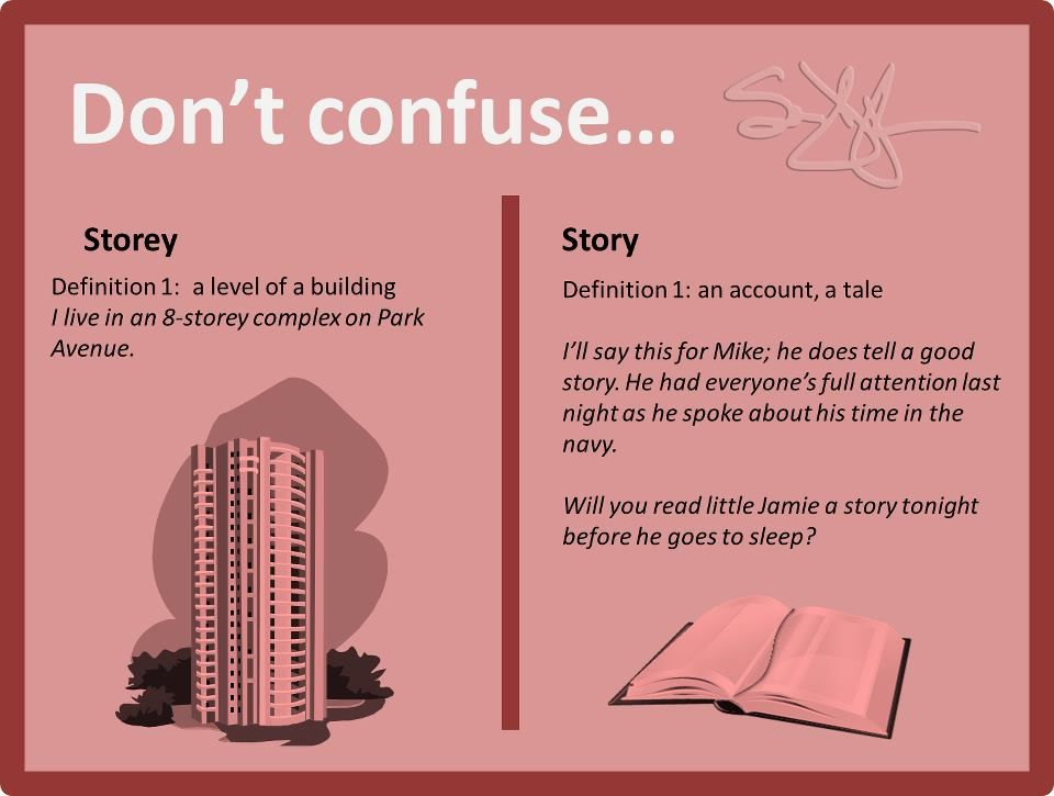 Don't confuse: Storey vs. Story