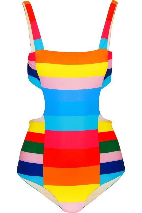 31966b6a0d6c0 Moschino + My Little Pony printed triangle bikini ( 210) ❤ liked on Polyvore  featuring swimwear