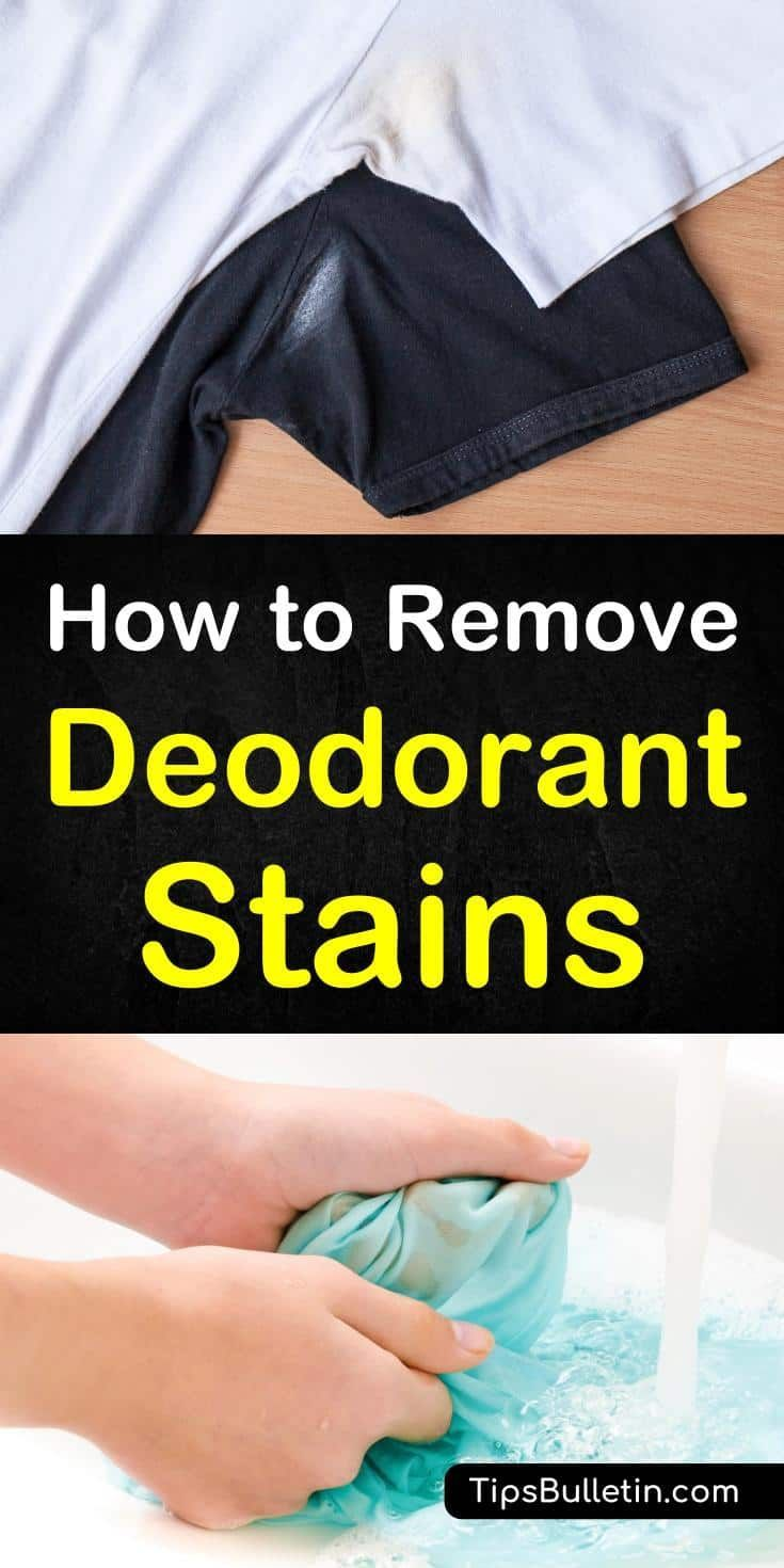 How to wash white stains from deodorant on clothes