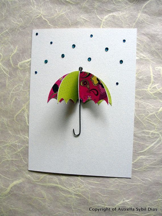 Pin By Kate Yahoo On Otkrytki Umbrella Cards Paper Cards Cards
