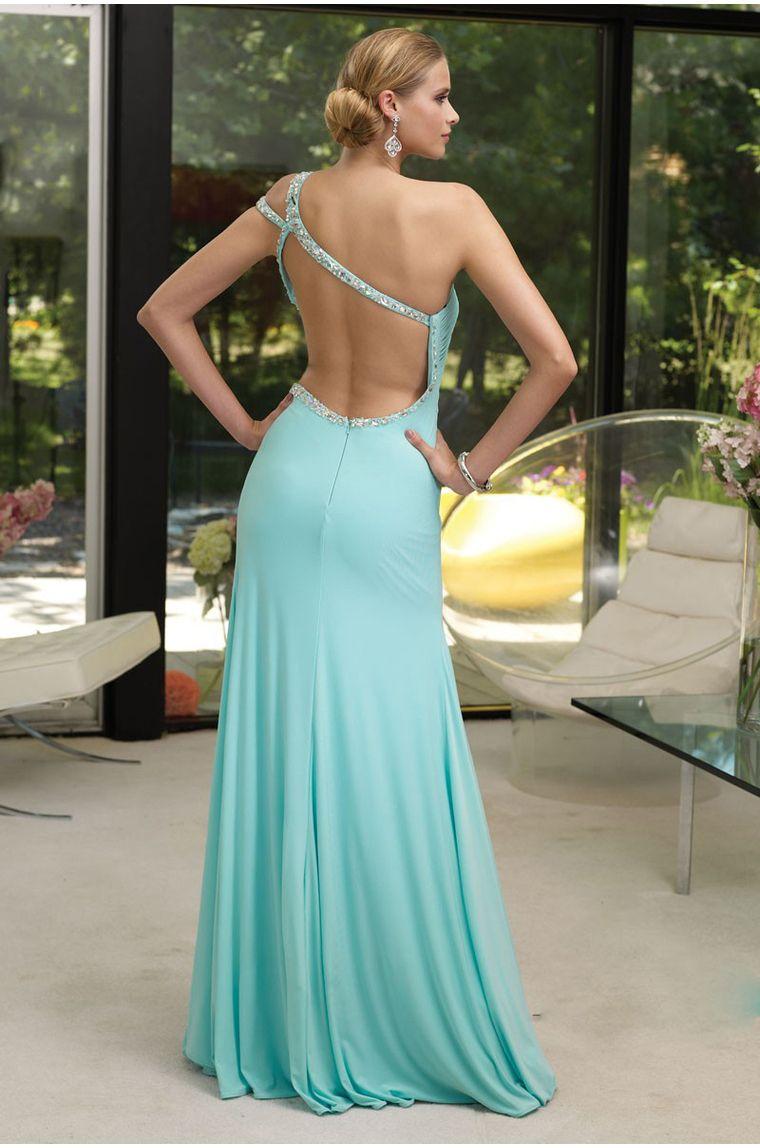 One Shoulder Split Front Column Prom/Evening Dress http://findress ...