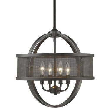 Colson Chandelier with Shade | Golden Lighting at Lightology | For ... | lightology chandelier