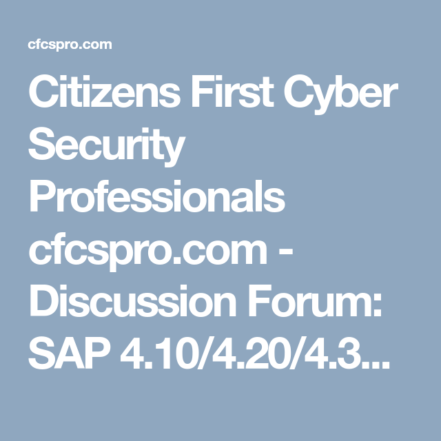 Citizens First Cyber Security Professionals cfcspro com