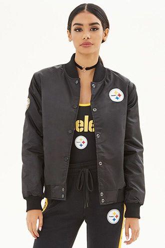 more photos 7da70 85838 NFL Steelers Bomber Jacket | stylin' | Steelers jacket ...