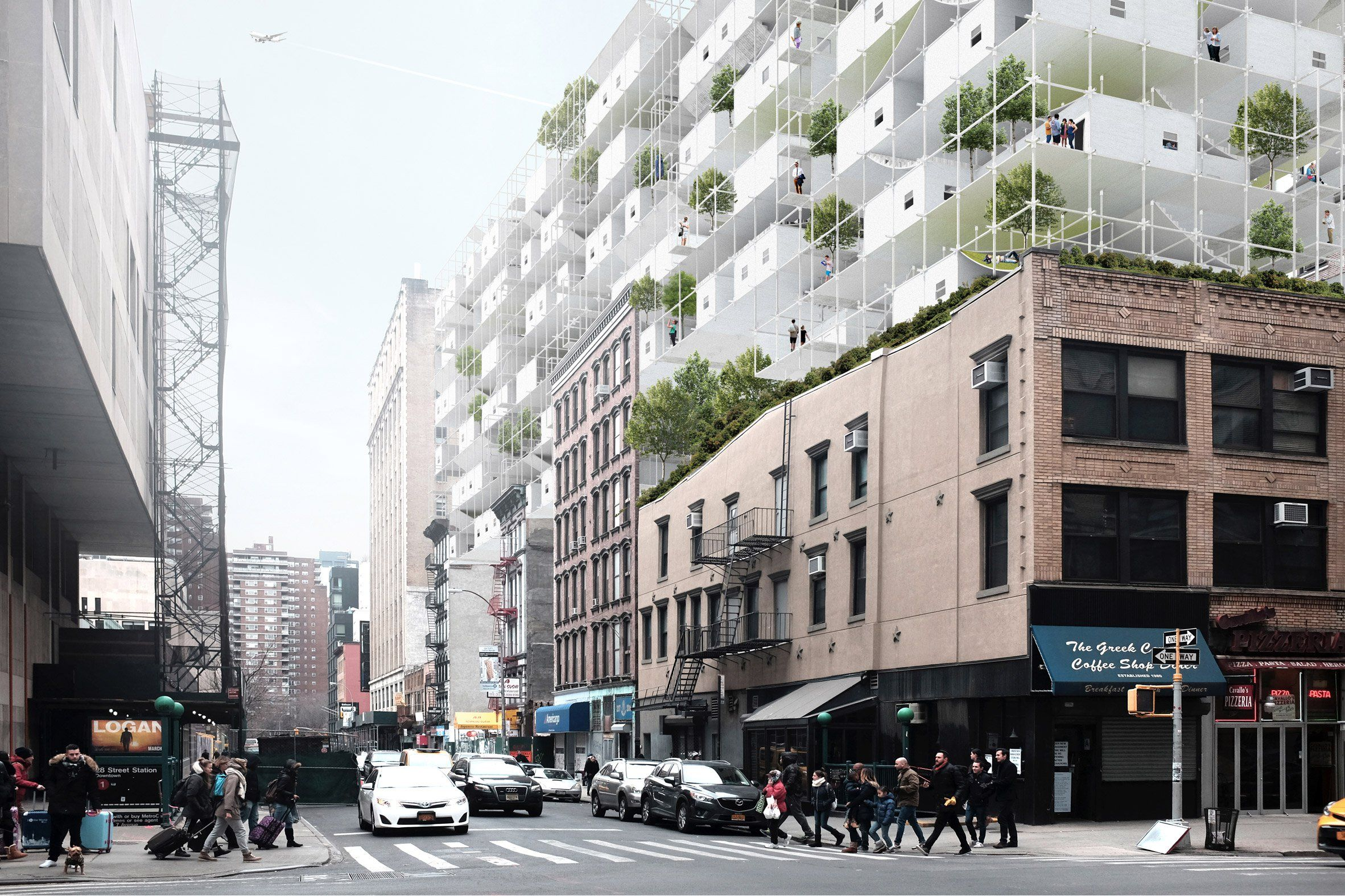 Modular Affordable Housing Envisioned For Abandoned New York Airspace Affordable Housing Public Architecture Cool Landscapes