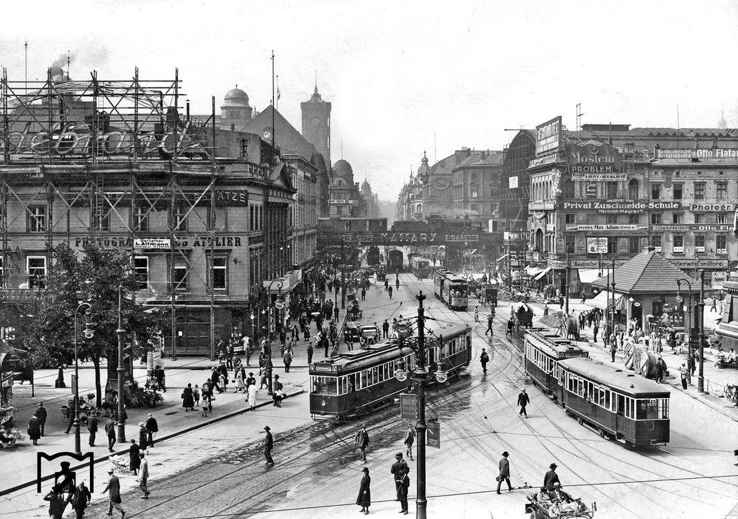1926 Berlin Alexanderplatz Historische Fotos Bilder Bildergalerie