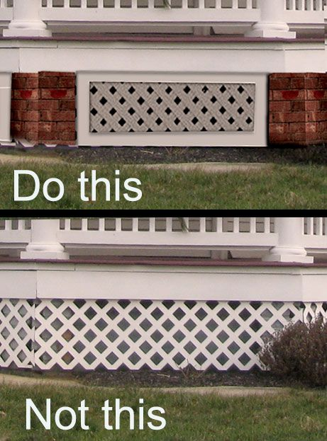 Porch Skirting Mistakes Old House Guy Porch Lattice House