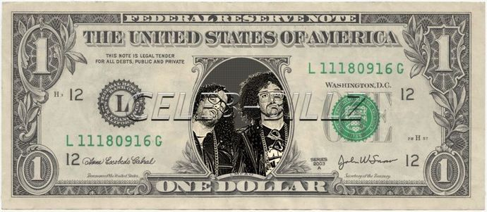 Music Band Real Dollar Bill Cash Money Collectible Memorabilia Celebrity Novelty Bank Note Dinero By Vincent The Artist 7 77 Usd