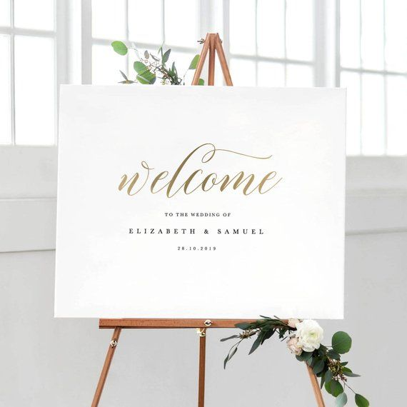 photo about Welcome Signs Template named Welcome In the direction of Our Marriage Signal Template, Printable Welcome Indication