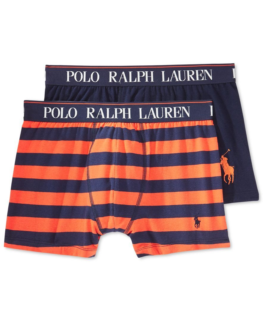 Shop for Underwear \u0026 Undershirts online at This duo of boxer briefs from Polo  Ralph Lauren stands out with one plaid print and one solid color.