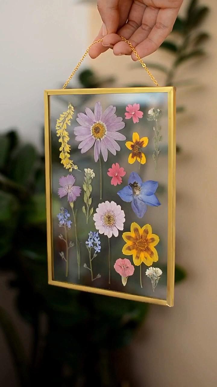 Photo of Gepresster Blumenrahmen #Flower #frame #Pressed #DiyAbschnitt Diy Segment  The p…