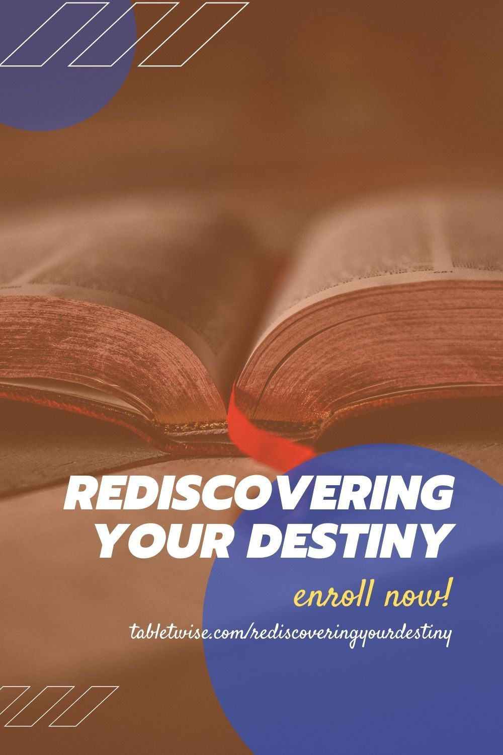 Rediscovering Your Destiny is a course that will help you recover a firm grasp of knowing where you are going directionally. If you've been impacted by downsizing, the global economic modifications, and are searching for recession and depression proof tools, you will benefit greatly from this course. #destiny #scripture #class #onlineclass #course #faith #rediscover #discover #gift #assignment #learn #enrollnow #success #ceoofdestiny #life #holybible #gospel