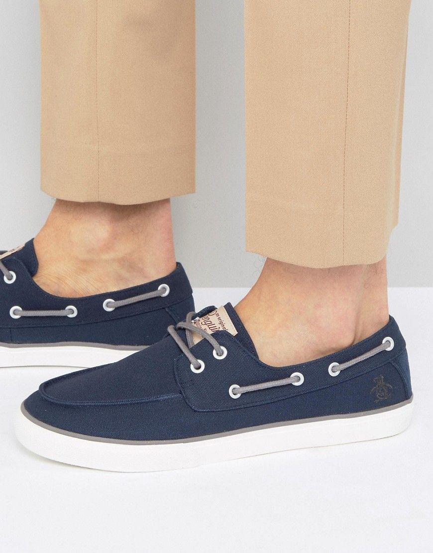 Original Penguin Canvas Boat Shoes